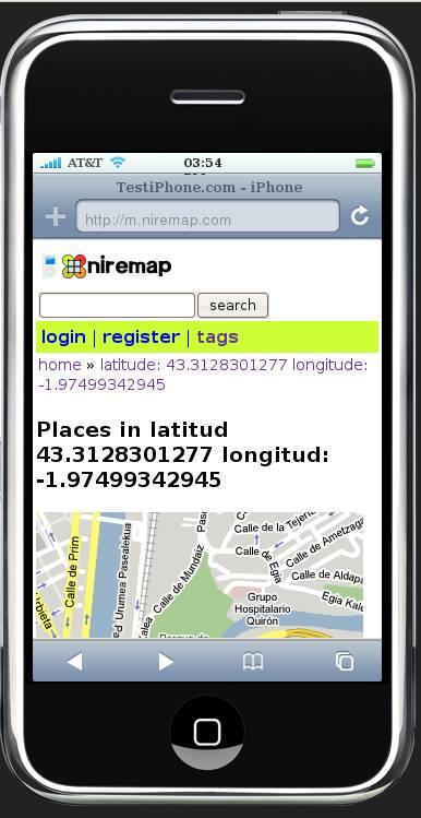 Mapa en Niremap Mobile