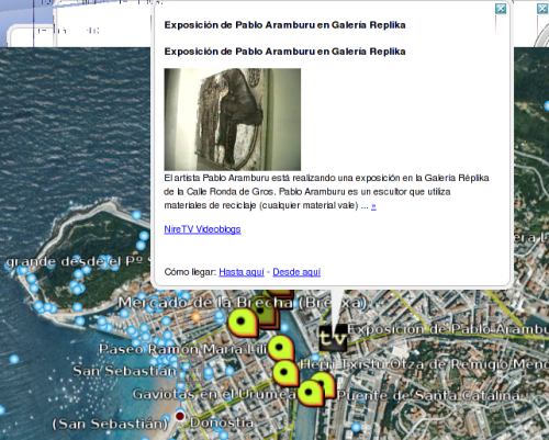 KML de Nirudia y NireTV en Google Earth