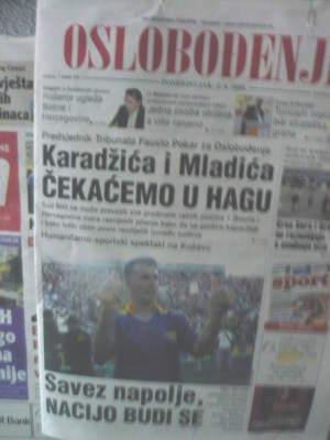 Portada Oslobođenje del 02/06/08
