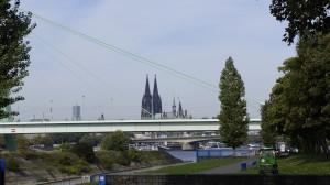 Catedral, Rin y puente de Severinsbrücke