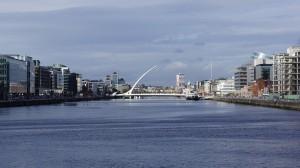 Calatrava en el Liffey, puente Samuel Beckett