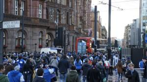Kalejira txuriurdin en Manchester, Saint Peters Square
