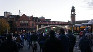 Kalejira txuriurdin en Manchester, Deansgate bridge