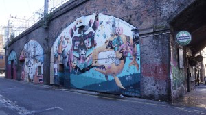 Graffitis en Oxford Road