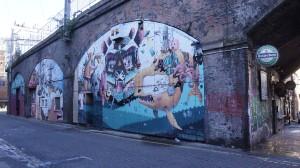 Graffitis en Oxford Road