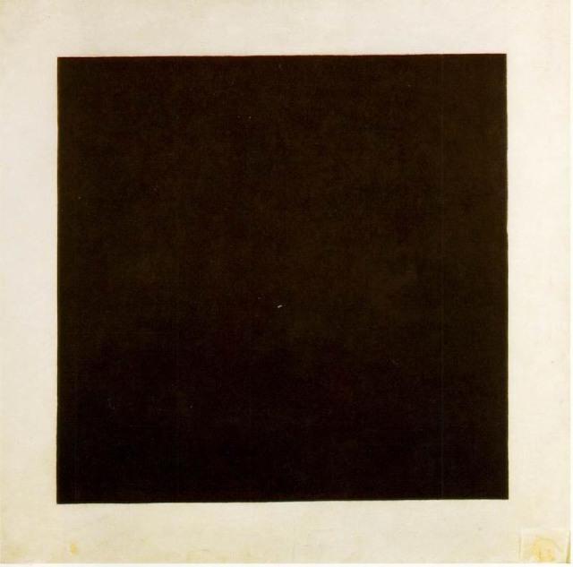 Cuadrado negro sobre fondo blanco - Kazimir Malevich